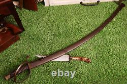 SUPER RARE Civil War Confederate Stamped Sword and Matching Scabbard Brit Imp