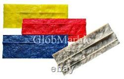 Set of 4 Pc Concrete Vertical Stamp Mats WSM 10503/S-4 Decorative Concrete Walls