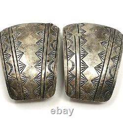 Stamped Clip On Navajo Watch Tips Special Sterling VTG 1960s 20g Handmade