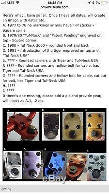 TUF-NECK square corner old school bmx patent pending stamped tuf neck stem