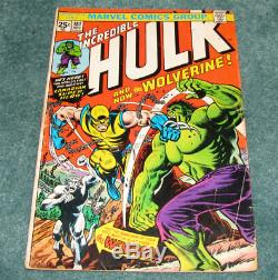 The Incredible Hulk #181 Comic Wolverine 1st Appearance Low Grade No MVS Stamp