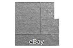 Three Rivers Ashler Stone Tile Concrete Stamp Set by Walttools 11 pc