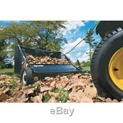 Tow Lawn Sweeper Agri-Fab 42 In. 12 Cu. Ft. Behind Leaf Bagger Stamped-Steel New