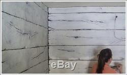 Tru Tex Vertical Concrete Stamp Texture Skin Set Weatherwood Wood Grain 3 pc