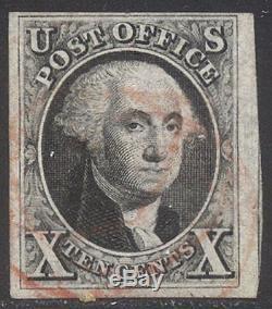 U. S. #2 Used 1847 10c Black