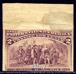 U. S. #231P5 Mint NH RARE 2c Columbian, IMPERF