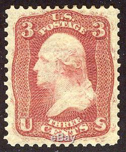 U. S. #56 CHOICE Mint XF 3c Brown Rose