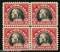 United States $2.00 Franklin Scott#547 Block Of Four 2 Stamps Each Lh And Nh