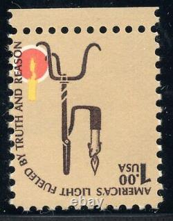 US 1610c (1975) $1 MNH EFO Brown Inverted (CIA Invert) Scarce/Rare
