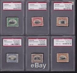 US 294-299 Pan-American Mint Match Set of PSE Encased 95 XF-S OG NH SMQ $6,775