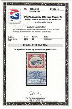 US # 4806e (2013) $2 (x1) MNH-XF90 withPSE Cert- Un- INVERTED CENTER- Rare/Scarce