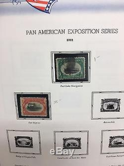 US Commemorative Stamp Collection 5 White Ace Albums 1898-1993