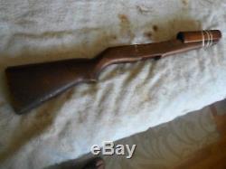 US GI M-1 garand rifle wood stock & matching handguards early springfield stamp