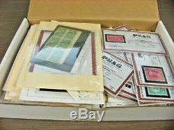 US, Many Certificates, Outstanding assortment of Stamps, includes Back of Book