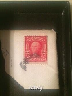 US Postage Stamp George Washington Two Cent 2¢ Red Stamp 1902 Shield Very Rare