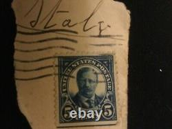 US Postage Stamp Scott's # 557 c, 5 cent Roosevelt used. (Rare)