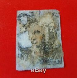 US Sc #2 black 1847 Washington Blue Cancel