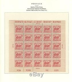 US, Superb Stamp Collection in a 6 Volume Scott Platinum Hingeless albums