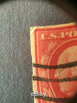 US stamp used 2c Deep Rose, Ty. Ia, Imperforate, Schermack Ty. III Scott # 482A