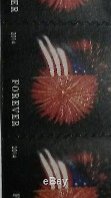 USPS Forever Stamps, Star-Spangled Banner, Roll of 100 (Fireworks) (2 roll)new
