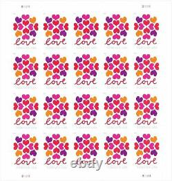 USPS Hearts Blossom Love Forever Stamps 50 Panes of 20 (1000 Stamps)