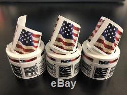 USPS- US Flag 3 coils of 100 (300 FOREVER Stamps) $150 value