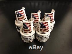 USPS- US Flag 5 (FIVE) coils of 100 (500 FOREVER Stamps) $250 value