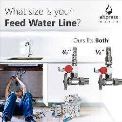 Undersink Water Filter System Reverse Osmosis Filtration CLEAR + EXTRA FILTERS
