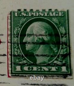 Used 1 Cent Washington Stamp Rare Perf