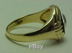 VINT DECO 10K YEL GOLD ONYX & DIAMOND RING 5.4g FULL STAMPS & HALLMARKS NO RESV