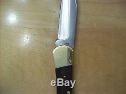 VINTAGE BUCK KNIFE 110 Inverted 1 Liner Buck Stamp 1961-1967 Solid Ebony Wood