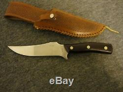 VINTAGE SCHRADE WALDEN OLD TIMER 150T DEERSLAYER KNIFE-1stRUN STAMP-WEAVE SHEATH