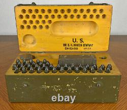 VTG WWII US Military Army Meat Can Utensil Die Stamping Kit C. H. Hanson Co 1942