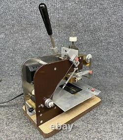 Veach Hot Foil Stamping Machine GS-703 With 3 Font Type Sets, Gold Foil + Extras