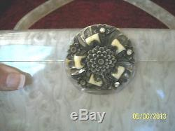 Vintage 1950's Wilardy Stamped Pearlized Lucite Box Pur