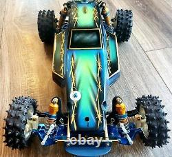 Vintage A Stamp RC10 Buggy Hot Trick Litesink MIP Dhawk Diamond Painted Body
