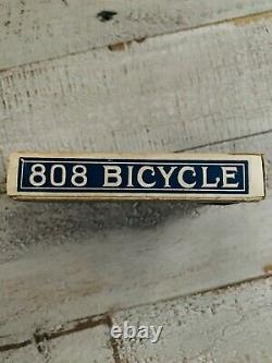 Vintage Expert Back No. 808 Bicycle Playing Cards Sealed With Tax Stamp