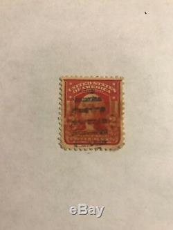 Vintage George Washington Stamp US Red 2 Cent Cancelled Antique 1908