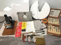 Vintage KINGSLEY HOT FOIL STAMPING MACHINE Works. LETTERS ACCESSORIES FOILS