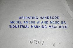 Vintage Kingsley Machine M-85-BA Hot Foil Stamping Machine with Letters M85 M 85