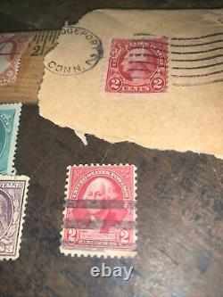 Vintage Old RARE US GEORGE WASHINGTON Stamps! Red & Green