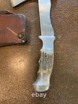 Vintage R. H. Ruana 22H Hatchet WithSheath M Stamp Knife 22 H Made in Montana