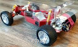 Vintage RC10 A Stamp Hot Trick Stuff Shelf Buggy Rare Alluminum Wheels and Tires