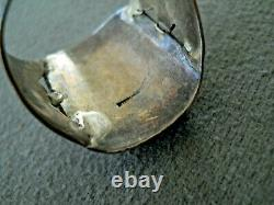 Vintage Southwestern Native American Petrified Wood Sterling Silver Stamped Ring