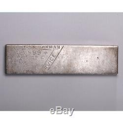 Vintage Swiss of Utah Silver 5.61 oz Fine Silver Bar RARE! Stamped Old Pour