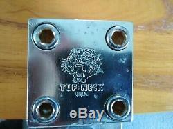 Vintage Tuf-neck Stem Old School Bmx Tuf Neck Tiger Stamp Original All Chrome