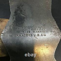 Vintage WINCHESTER Broad Head Hatchet Original Handle Axe Embossed NICE STAMP