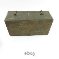 Vintage WWII C. H. Hanson Co Stamping Kit 1942 Dog Tag Stamper Wood Box Set