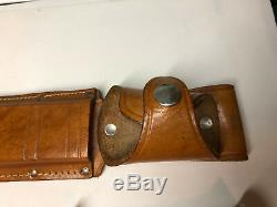 Vintage Western USA Stamped L46-8 Knife 6 Blade Leather Sheath. Clean