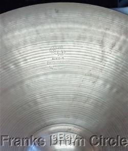 Vintage Zildjian 50's 22 Thin Ride Cymbal 2,527g Large Block Letter Stamp VIDEO